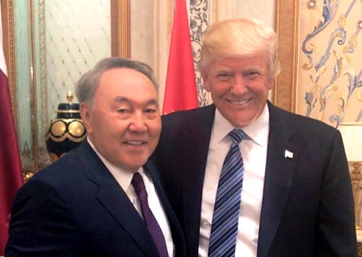 Трамп встретится сНазарбаевым 16января
