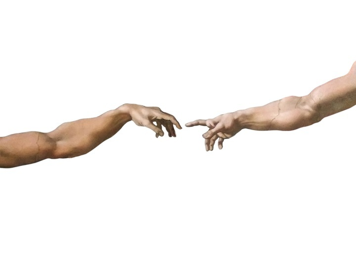 Michelangelo's masterpiece: The Creation of Adam in Sistine Chapel, Vatican Museum.