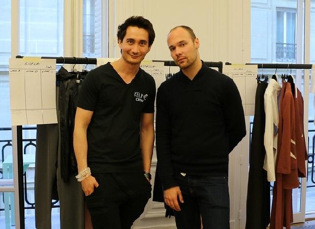 Ином Акаджан c голландским дизайнером Питом Дюлаэртом.