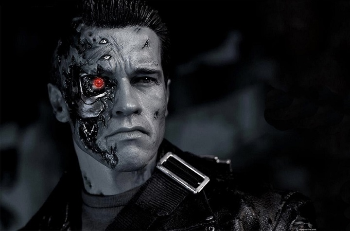 The shot from the movie Terminator Genisys.