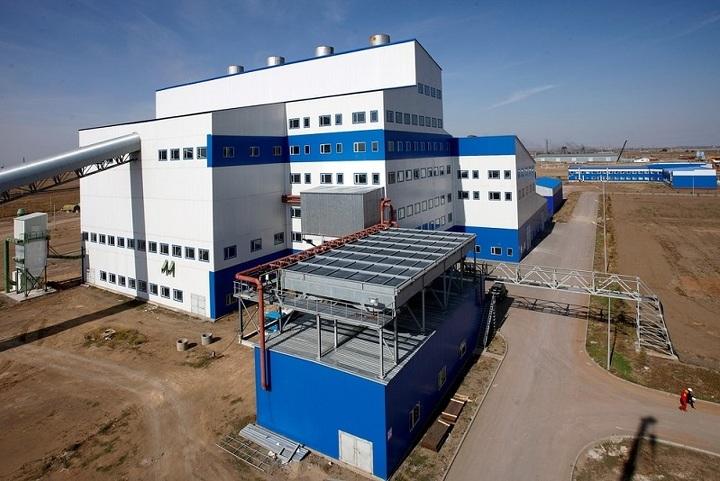 Завод по производству металлического кремния.