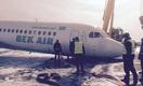 Очевидцы сняли видео аварийной посадки самолета Bek Air