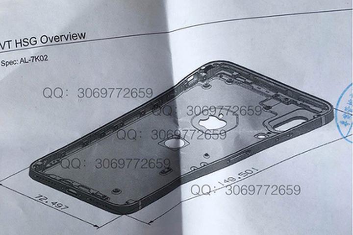 Размещена схема Apple iPhone 8 сTouchID назадней панели